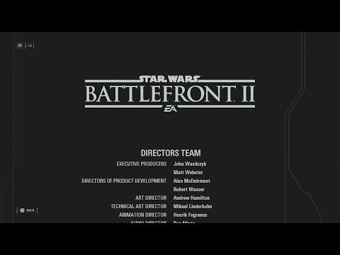 Star Wars Battlefront II - Credits HD