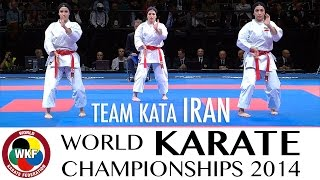 Team Kata IRAN. Kata Unsu. 2014 World Karate Championships.