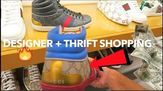 NEW DESIGNER ITEMS at NEIMAN MARCUS!!! Designer Shopping + Thrifting Vlog!!!
