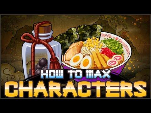 How to MAX Level Characters FAST!   NARUTO Ultimate Ninja BLAZING