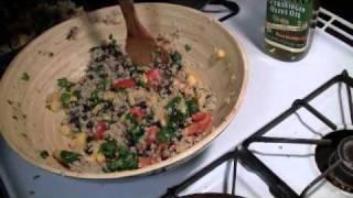One Minute Mango Black Bean Quinoa Salad