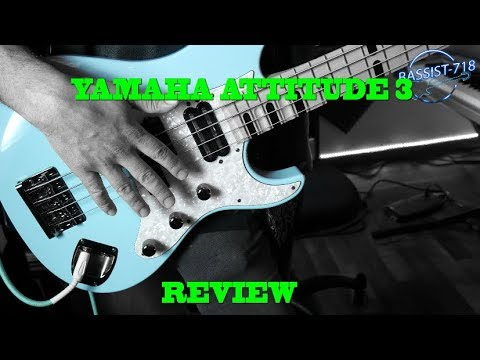YAMAHA ATTITUDE LIMITED 3 BASS REVIEW (w/solo sample) BASS GUITAR ACADEMY - bass guitar mastery