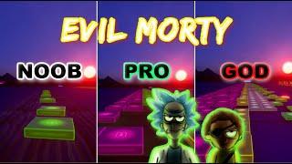 Rick and Morty  Evil Morty Theme  Noob vs Pro vs God (Fortnite Music Blocks) Map Code!