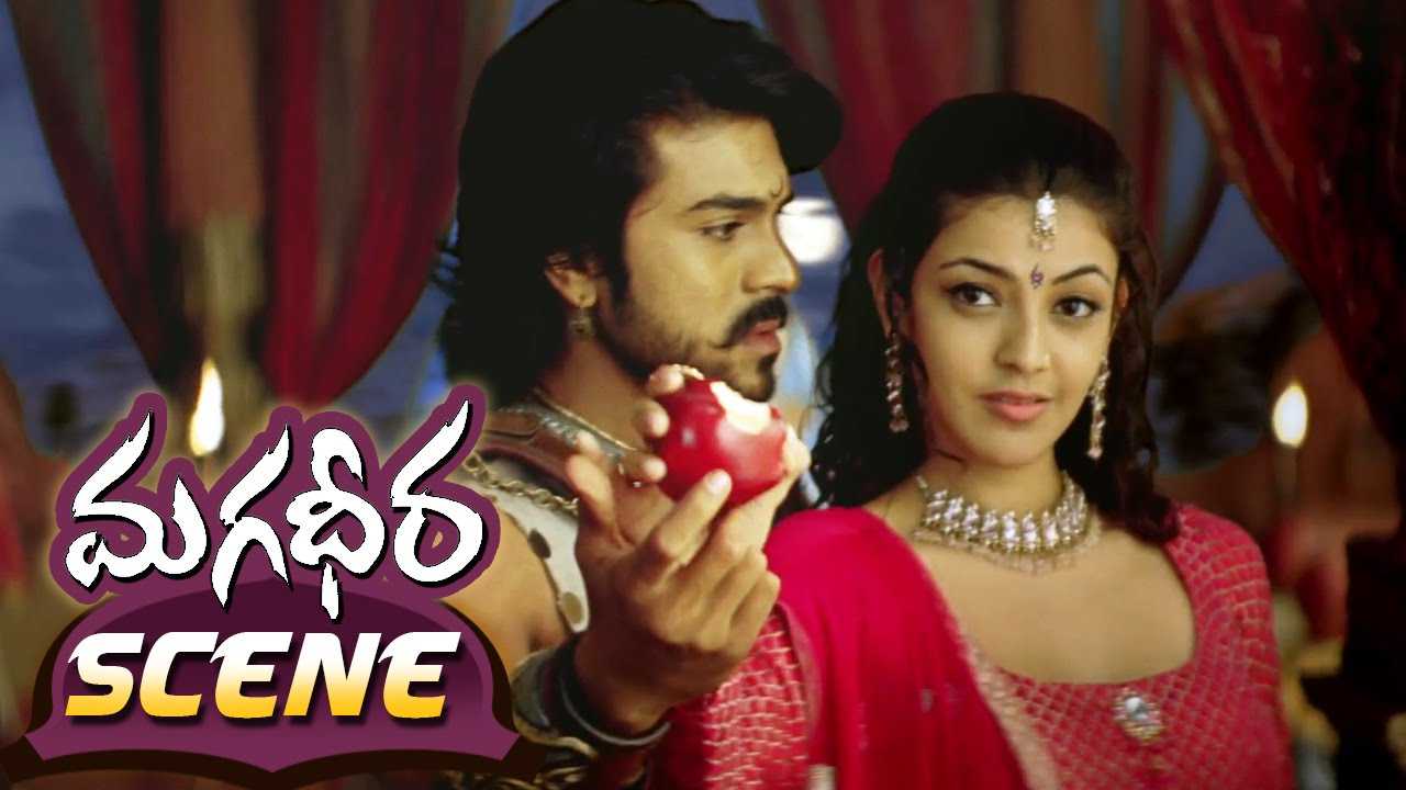 kajal aggarwal & ram charan sharing apple || magadheera telugu movie