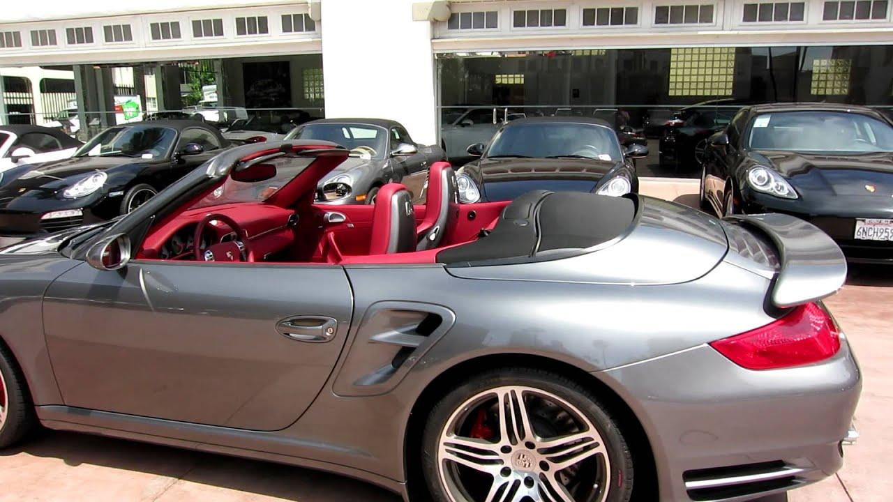 97 2008 Porsche 911 Turbo Cabriolet Tiptronic Meteor Grey