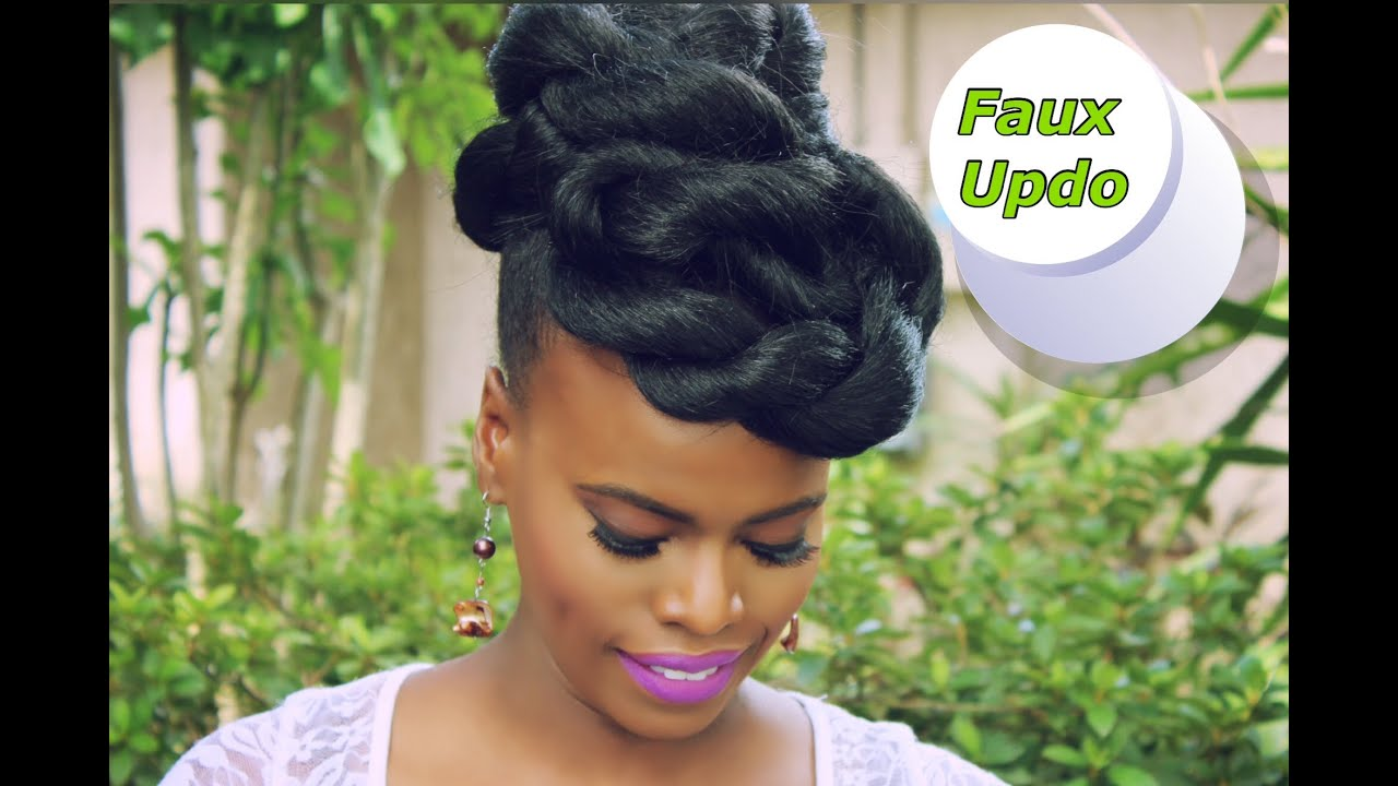 Quick & Easy Faux Updo On Ethnic Natural Hair YouTube