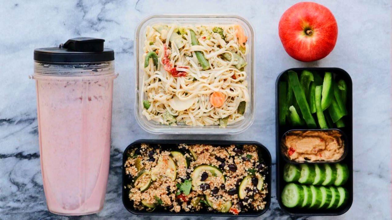 Easy Vegan Meal Prep In Under 1 Hour Breakfast Lunch Dinner