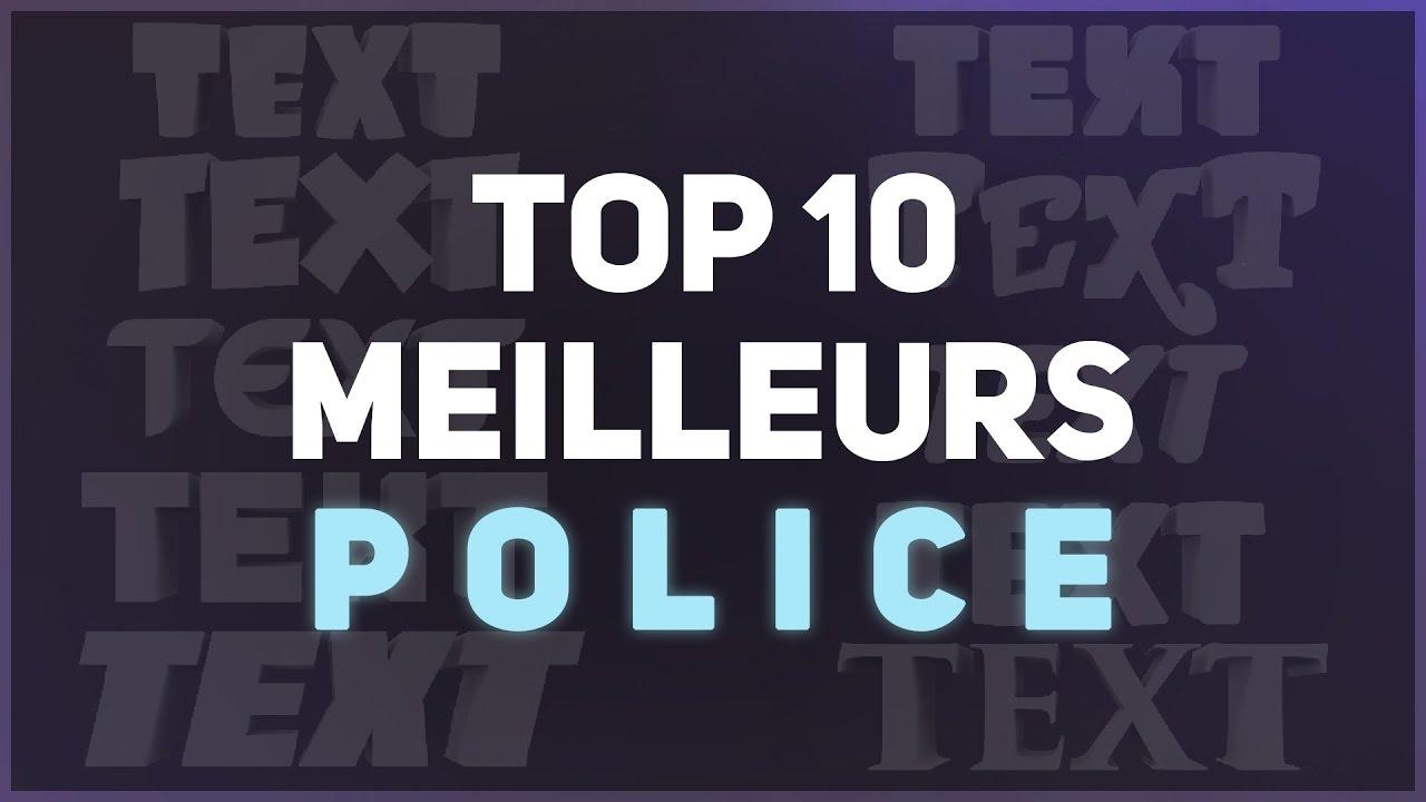 TOP 10 Meilleures polices/fonts pour GFX Minecraft