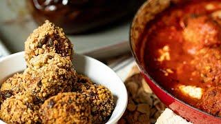 Melitzanokeftedes 3 Ways! Greek Eggplant Meatballs