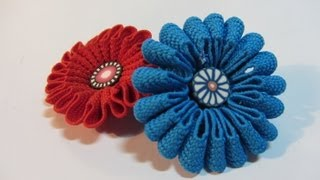 Repeat youtube video Tutorial: Zigzag flowers. Flores zigzag.