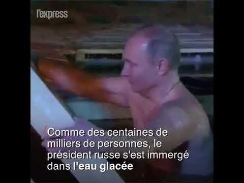 Vladimir Poutine prend un bain glacé devant les caméras