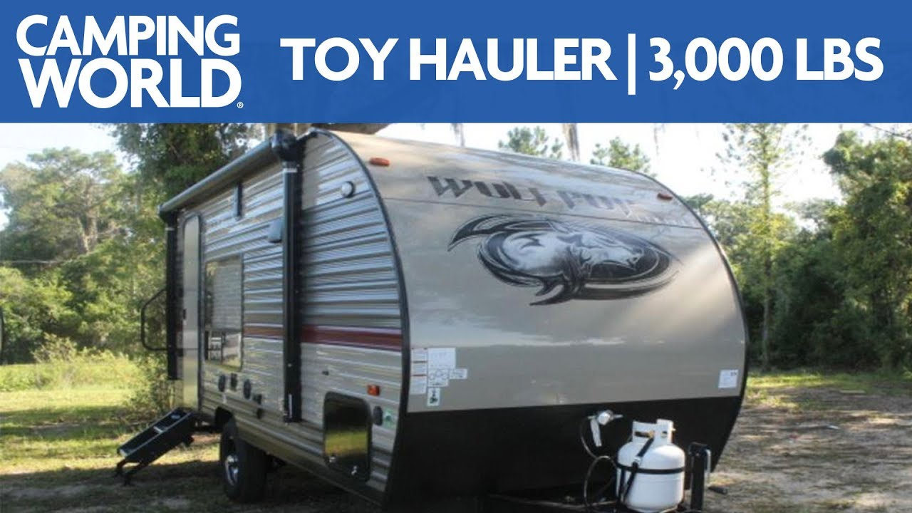 2018 Forest River Wolf Pup 17RP   Toy Hauler - RV Review: Camping World