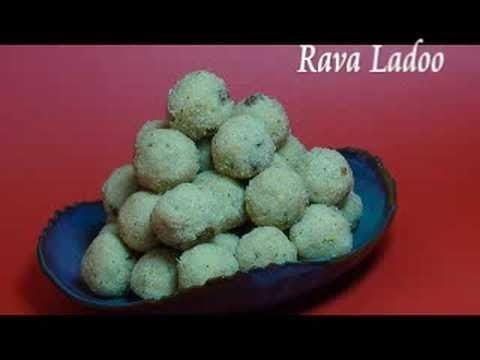 Rava Ladoo - Indian Dessert Recipe Videos,indian recipe