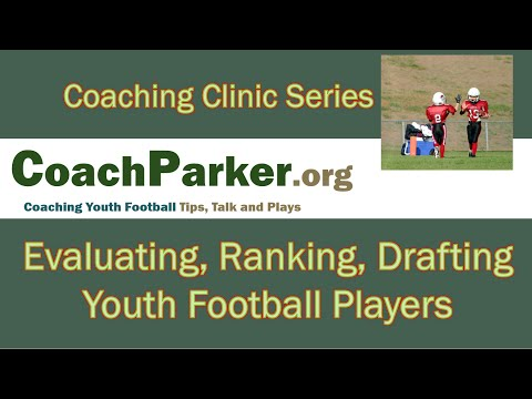 Evaluating and Ranking Youth Football Players for KYA FB Grass Drills