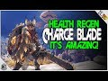 MHW Charge Blade HEALTH REGEN Augment! IT'S INSANELY GOOD! Monster Hunter World Armor