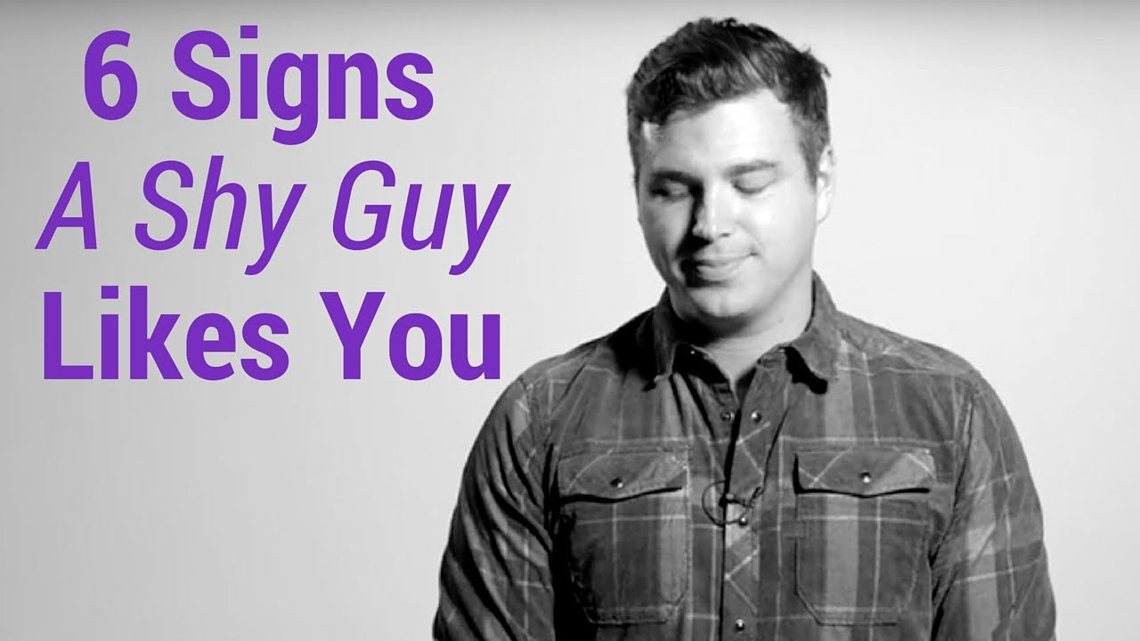 Shy men in love signs