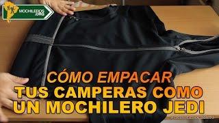Como Doblar Y Empacar Casacas Y Capuchas En La Mochila