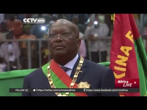 Burkina Faso's new president sworn in