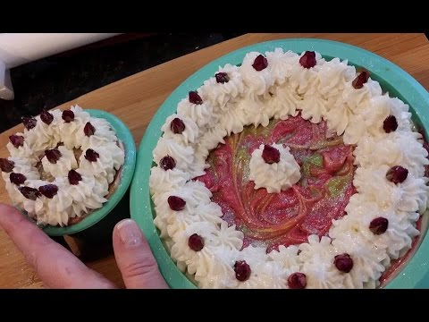 Valentine S Day Soap Cakes Cold Process Soap Making Youtube