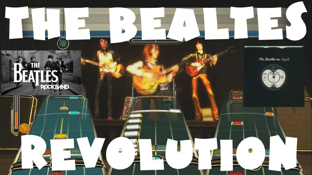 The Beatles - Revolution - The Beatles: Rock Band Expert Full Band (REMOVED  AUDIO)