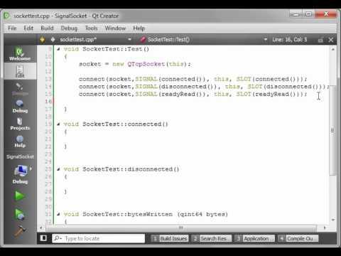 C++ Qt 66 - QTCPSocket using signals and slots