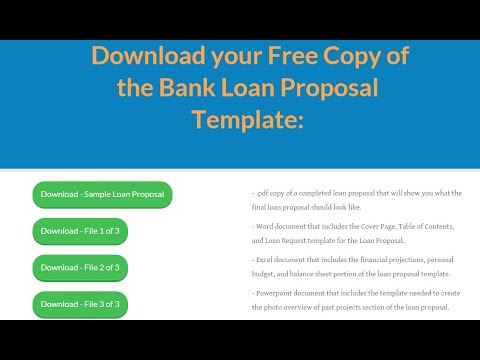 How To Prepare A Bank Loan Proposal Video  Youtube