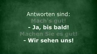 Вітання та прощання по-німецьки. Знайомство. Урок #4, частина 1.