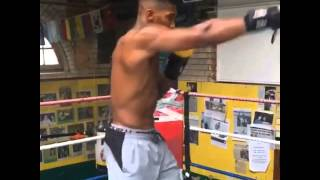 Anthony Joshua Shadow Boxing in RDX Gloves