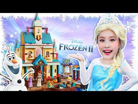 [겨울왕국2 최초공개] 지니가 레고 아렌델성에서 엘사가 되었어요! LEGO Frozen2
