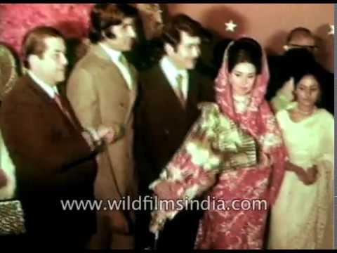 Wedding Reception Of Randhir Kapoor And Babita In 1971 Youtube