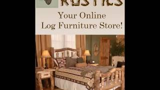 Rustic Futon - Operating The Aspen Log Futon / Sofa Made In America By Mountain Woods.