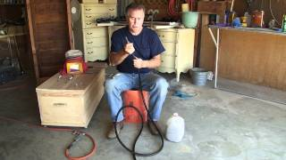 Dillard's Fast And Easy Way To Redo Furniture With Air Gun. Part 2
