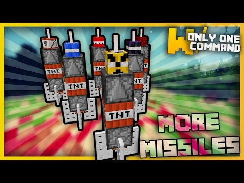 Minecraft - DESTRUCTIVE MISSILES With Only two Command Blocks (Destroy entire worlds!)