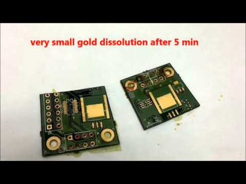 An easy way to recover gold from electronic scraps (circuit boars, cpu, cell phone, ..)
