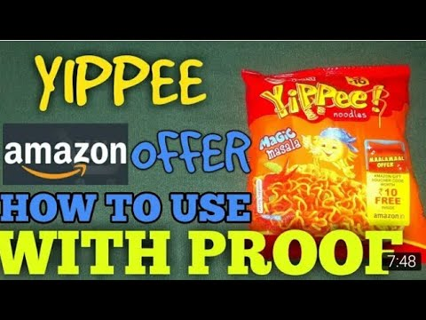 How To YIPPEE NOODLES!!! Free Amazon Gift Voucher MAALAMAAL OFFER ₹10 Guaranteed