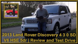 Review and Virtual video Test Drive In Our 2013 Land Rover Discovery 4 3 0 SD V6 HSE 5dr YE63RDV