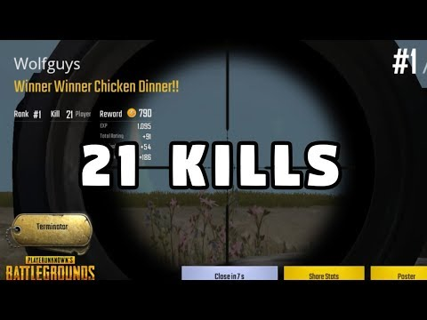 21 KILL WIN - PUBG Mobile Win With CRAZY Kar98K Gameplay - THE AMERICAN SNIPER [English Version]