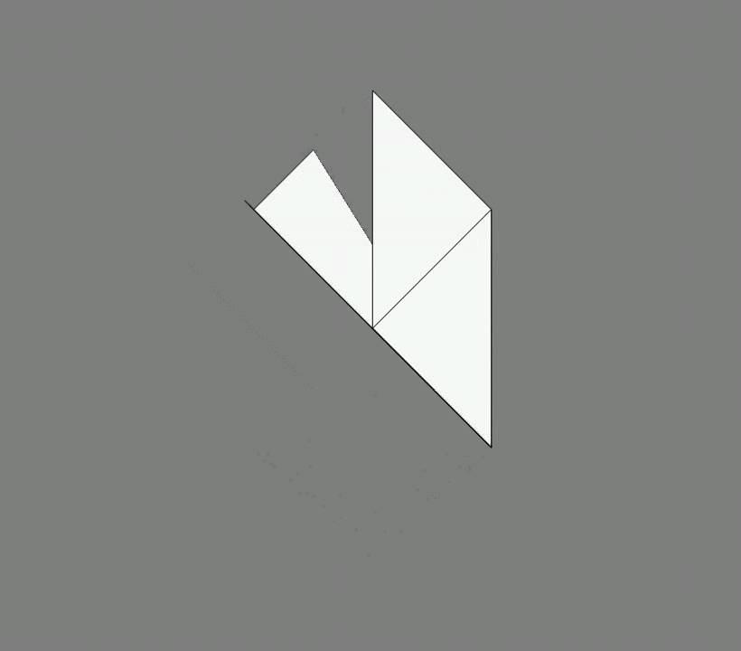 Оригами схема сборки воробей
