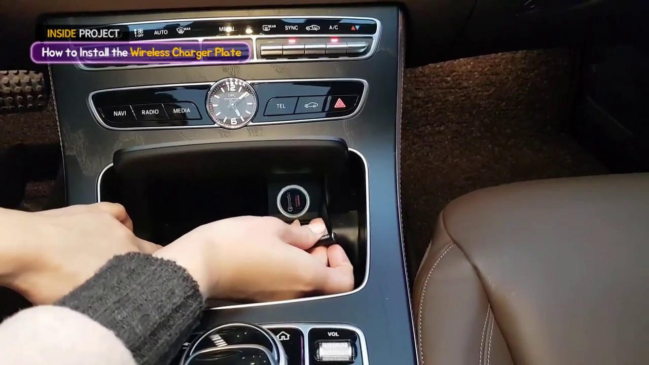 How to install the Wireless Plate for W213 Mercedes e-Class