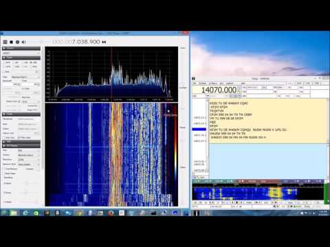 W9RAN demo of Spyverter in 40 meter RTTY contest