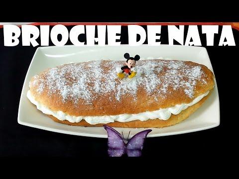 BRIOCHE RELLENO DE NATA (TIERNO Y ESPONJOSO)