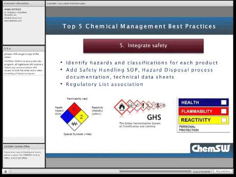 Top  5 Chemical Management Best Practices EHS Managers Should Implement