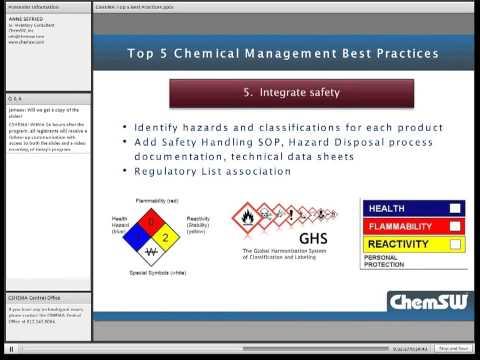 Top  5 Chemical Management Best Practices EHS Managers Should Implement