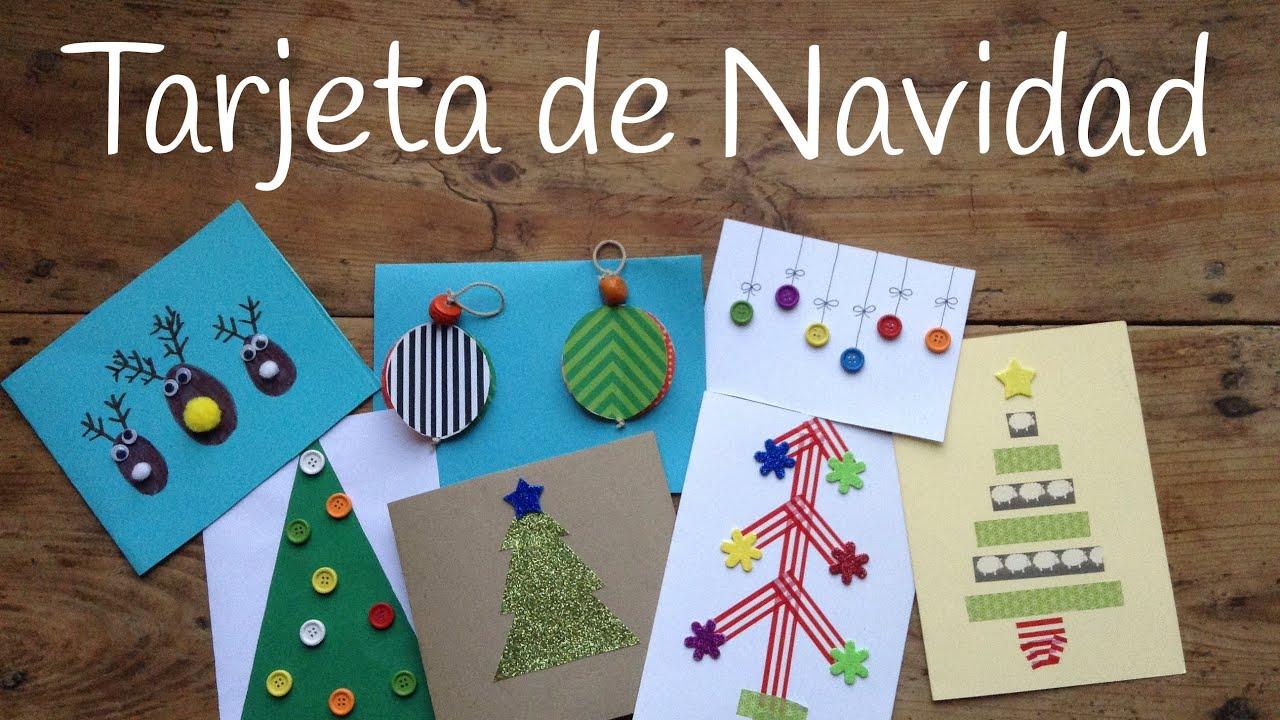 10 tarjetas de navidad originales para ni os - Manualidad ninos navidad ...