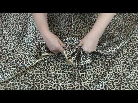 Satin Leopard Animal Print Dress Fabric