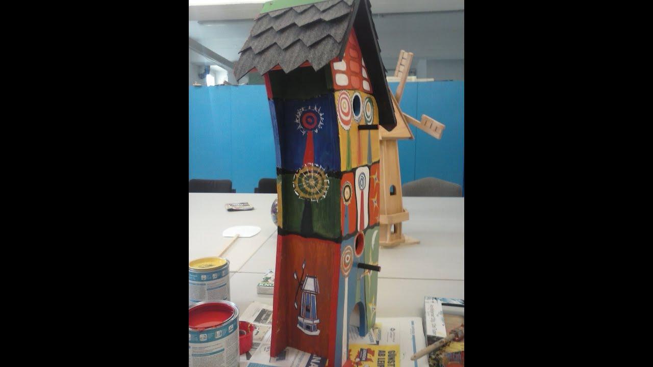 acrylic paint on wood birdhouse n 1 acrylfarbe auf holz. Black Bedroom Furniture Sets. Home Design Ideas
