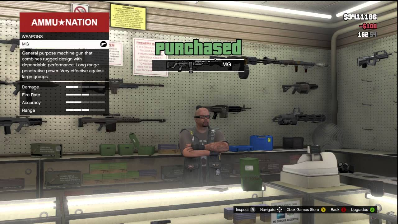 GTA 5 BUYING EVERY GUN IN THE GAME OVER SPENDING $50,000 ...