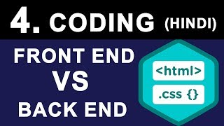 What is Front End & Back End Web Development | Coding Languages used for Website Design in Hindi