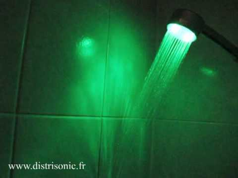 Pommeau de douche lumineux led multicolor youtube - Pommeau de douche a led ...