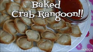 Baked Crab Rangoon!!  Easy Appetizers! Noreen's Kitchen